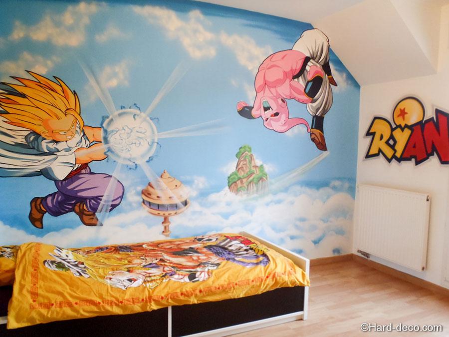 Id e d co une chambre dragon ball z for Cuartos decorados de dragon ball z