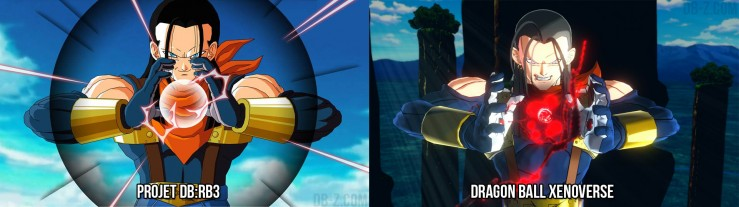 DBRB3 vs Dragon Ball Xenoverse