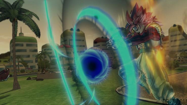 Dragon Ball Xenoverse : Gogeta SS4 + Omega Shenron