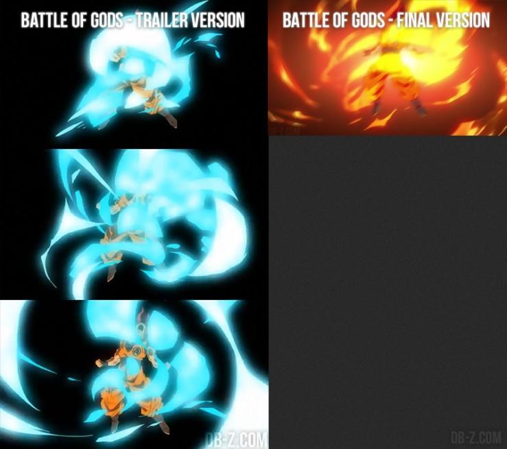 DBZ Battle of God : Aura de Super Saiyan God