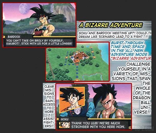 DBZ Extreme Butoden 3DS bizarre adventure