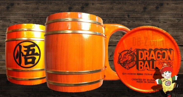 Mug Dragon Ball en bois (tonneau)