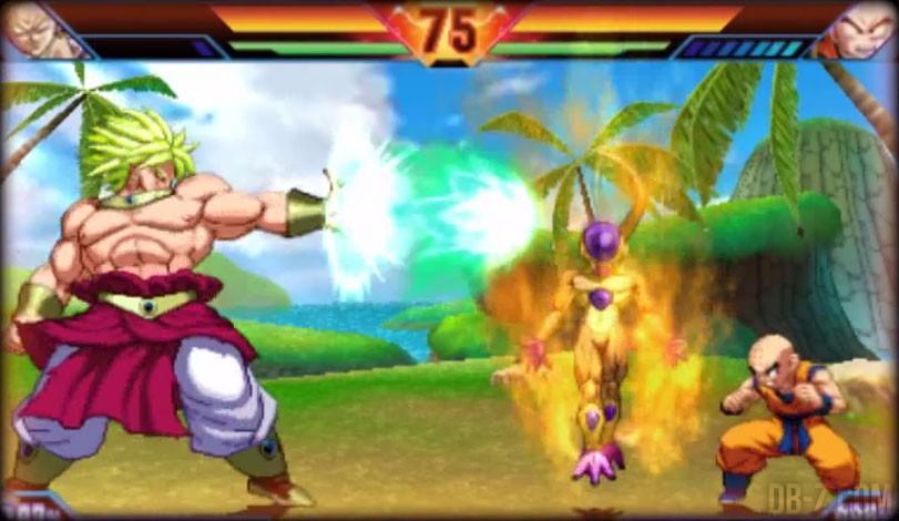 Dragon Ball Z Extreme Butoden : Broly, Golden Freezer,Krilin