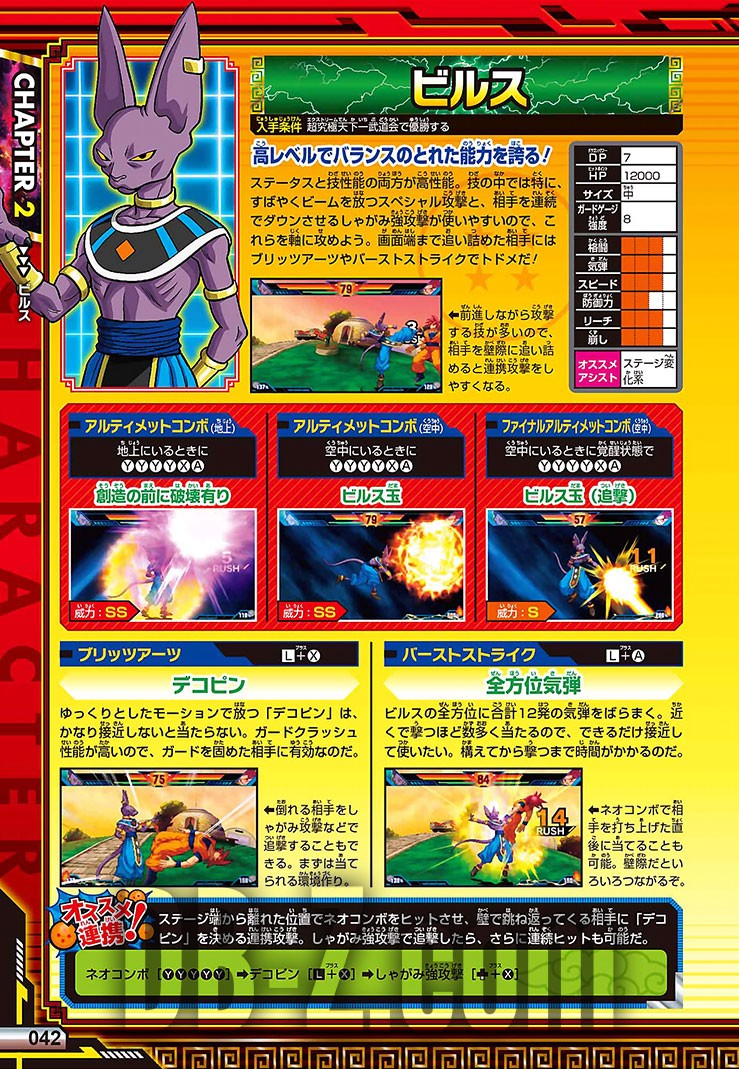 Dragon Ball Z Extreme Butoden Limit Break Battle Guide - Beerus