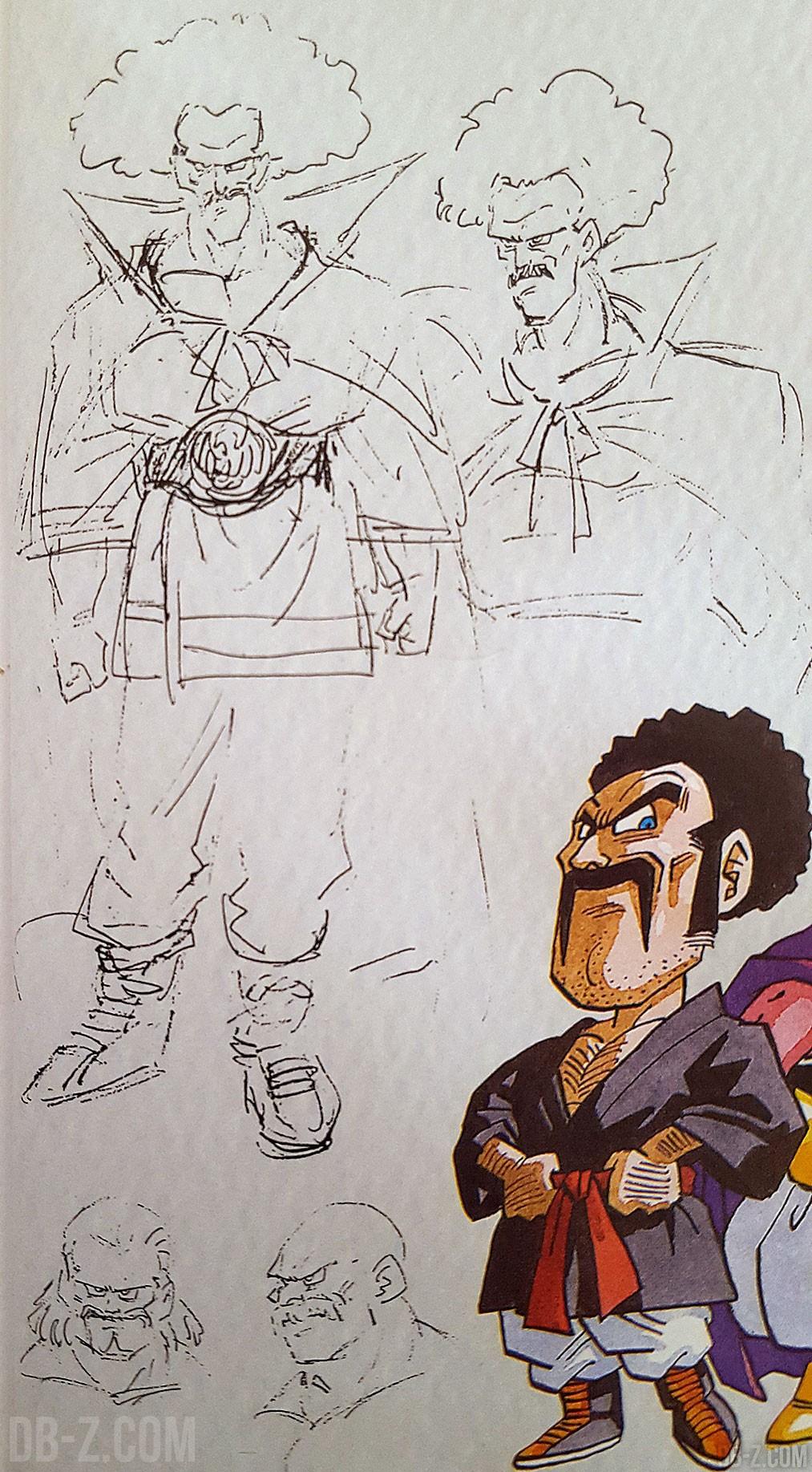 Des croquis de toriyama sur les personnages de dbz for Mr art design