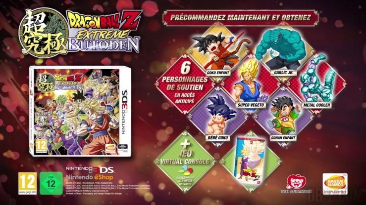 Dragon Ball Z Extreme Butoden : Bonus de précommande