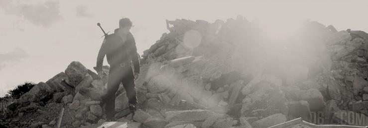 DBZ The Fall of Men : Trunks dans les ruines