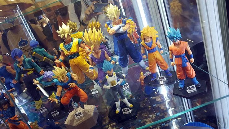les figurines dragon ball de la japan expo 2015
