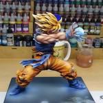 Peinture Figurine Goku Kamehameha