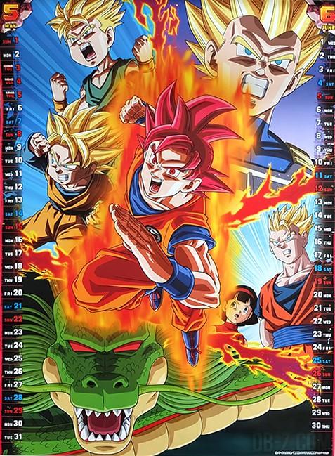Calendrier Dragon Ball Super 2016 (Mai Juin)