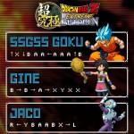 Goku SSGSS Gine Jaco - Dragon Ball Z Extreme Butoden