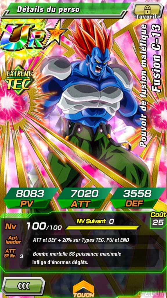 Dragon Ball Z Dokkan Battle Ur C 13