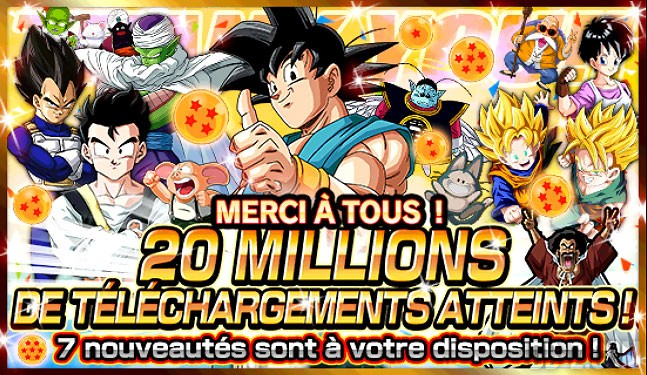 Dokkan Battle atteint les 20 millions de download