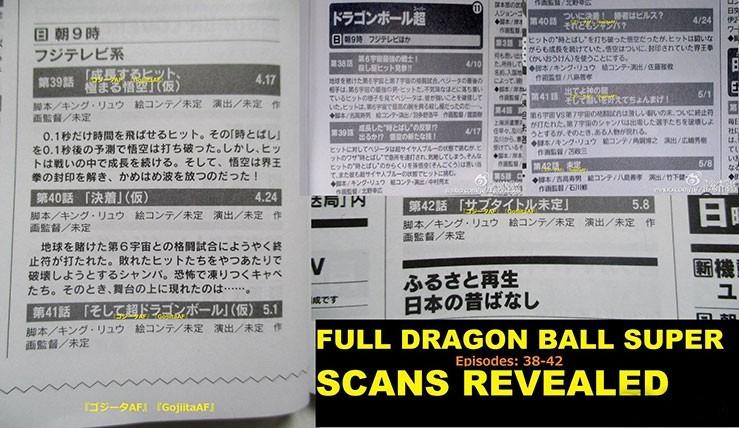 Dragon Ball Super Episodes 38 a 42