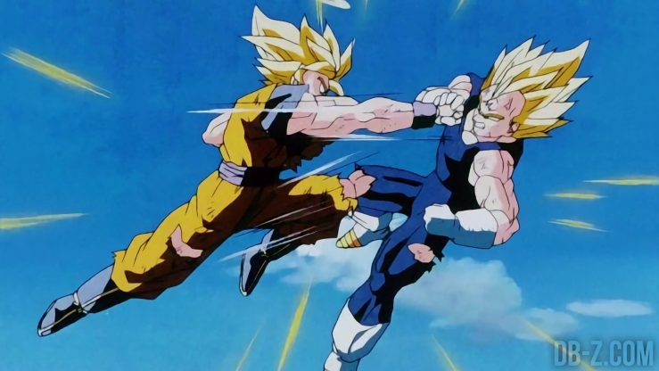 Super Saiyan 2 Vegeta vs Super Saiyan 2 Goku 2