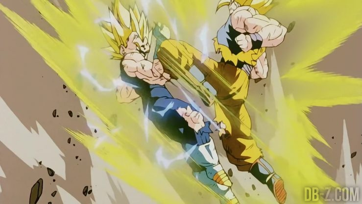 Super Saiyan 2 Vegeta vs Super Saiyan 2 Goku