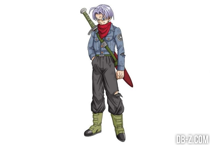 Un chara design officiel de trunks aux cheveux violets - Dragon ball z site officiel ...