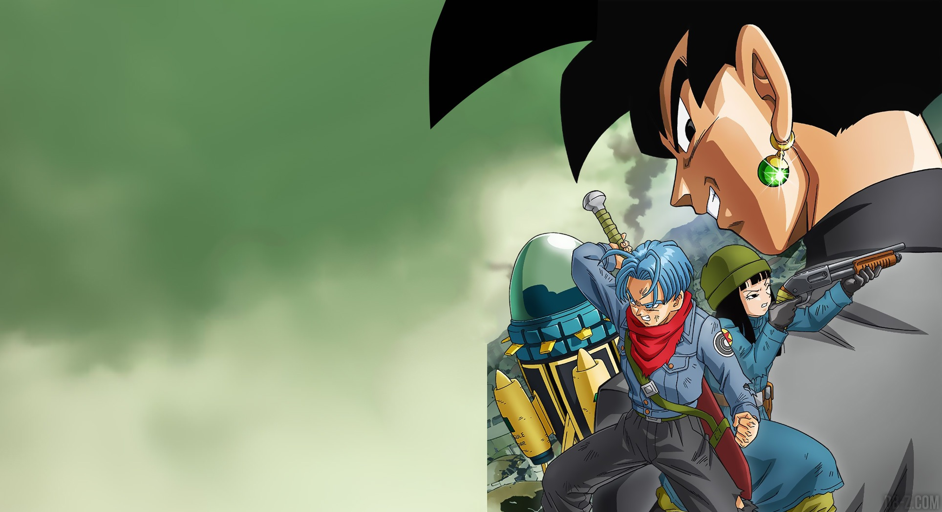 Visuel Hd Et Wallpaper De L Arc Trunks Black Goku Dans Dragon Ball Super