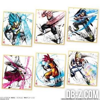 Shikishi Art 2 - Vegeta SSGSS, Goku Black Super Saiyan, Trunks, Whis, Goku SSG, Gogeta