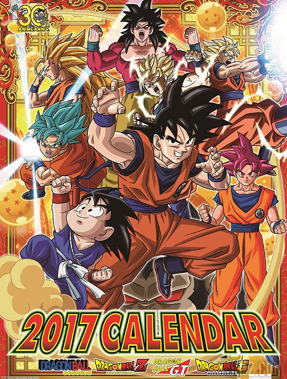 Couverture calendrier Dragon Ball Super 2017