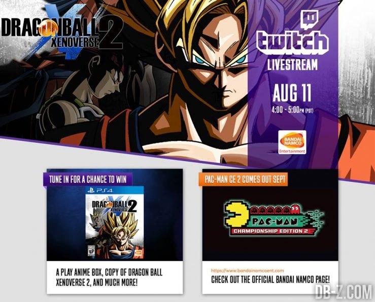 Live Stream de Dragon Ball Xenoverse 2 (11 août)