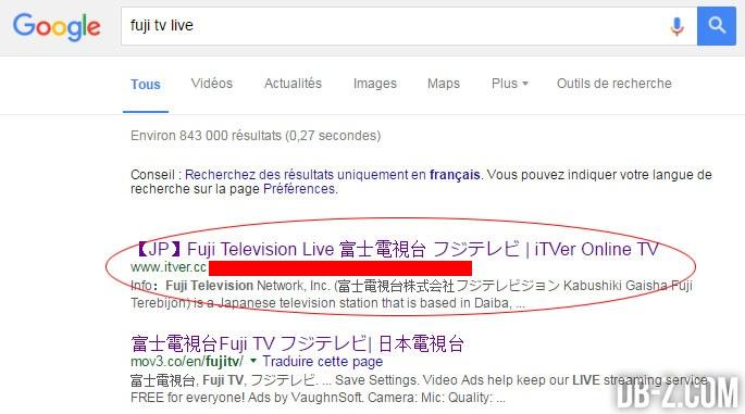 Recherche-Google---Fuji-TV-en-Streaming-LIVE