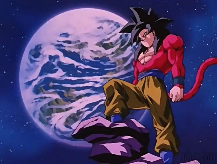 Goku Super Saiyan 4 sur son rocher