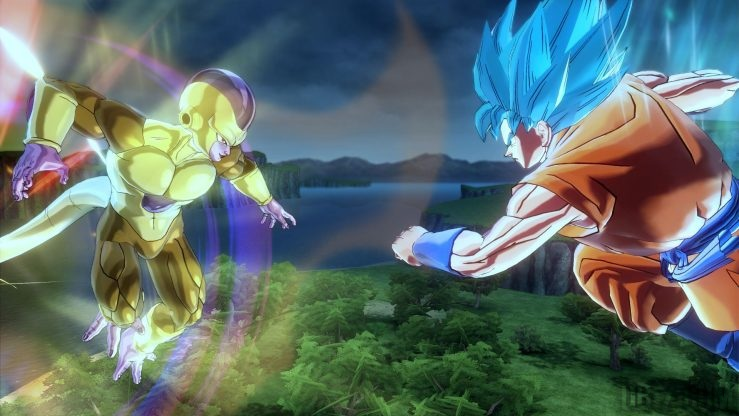 Dragon Ball Xenoverse 2 : Golden Freezer vs Goku SSGSS