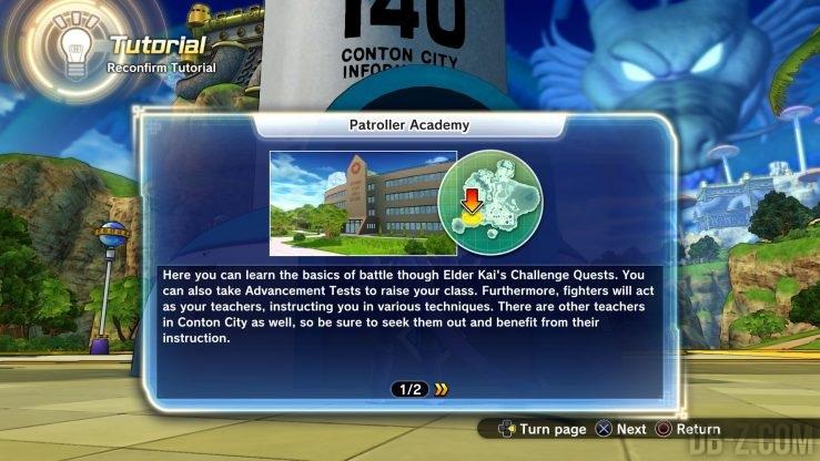 Dragon Ball Xenoverse 2 : Patroller Adacemy