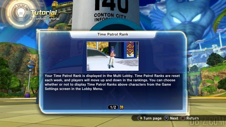 Dragon Ball Xenoverse 2 : Time Patrol Rank