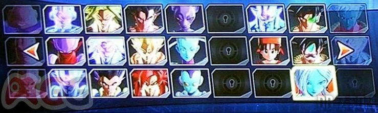 Dragon Ball Xenoverse : Roster / Liste des personnages (4)