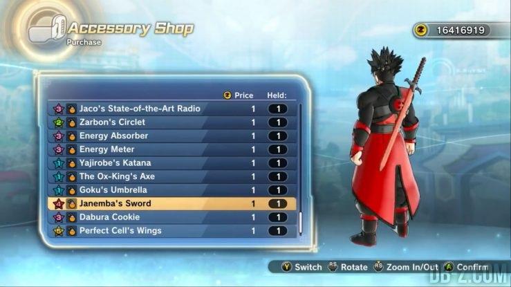 Epée de Janemba - Dragon Ball Xenoverse 2