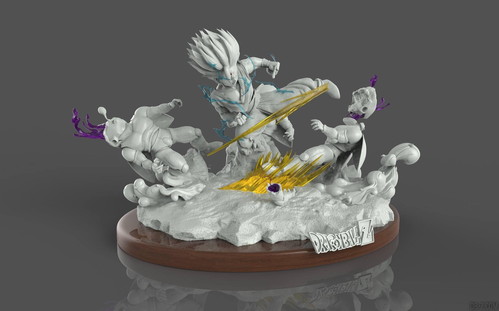 figurine dragon ball gohan vs cell