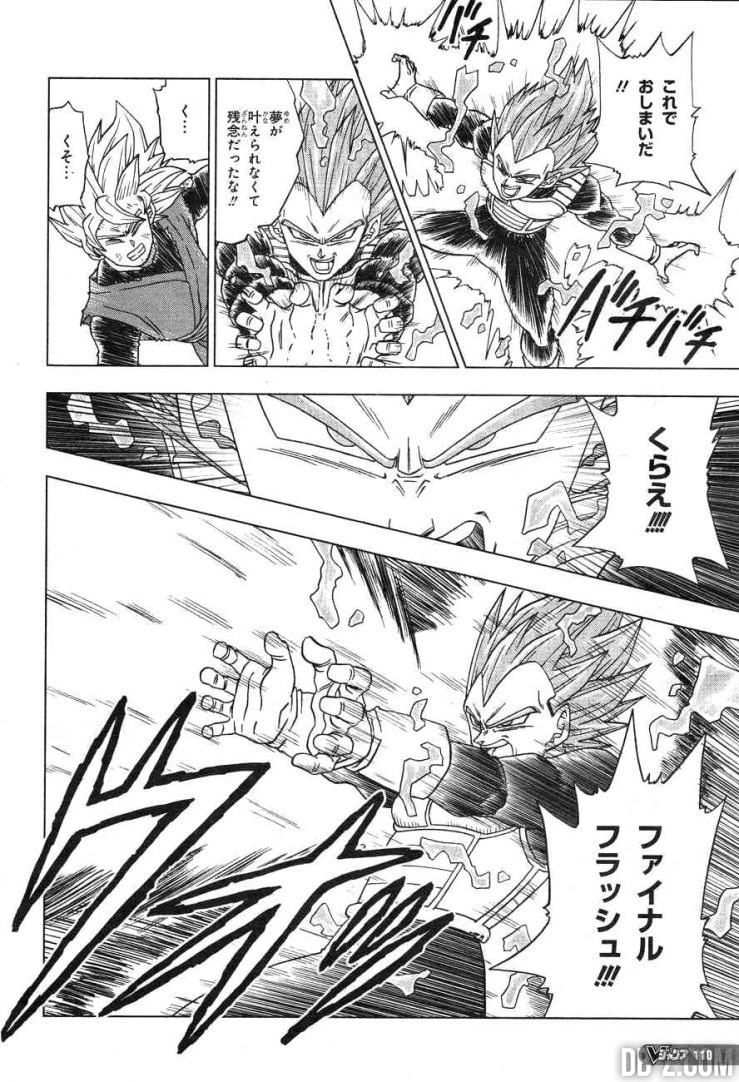 Dragon Ball Super chapitre 19 Vegeta Final Flash