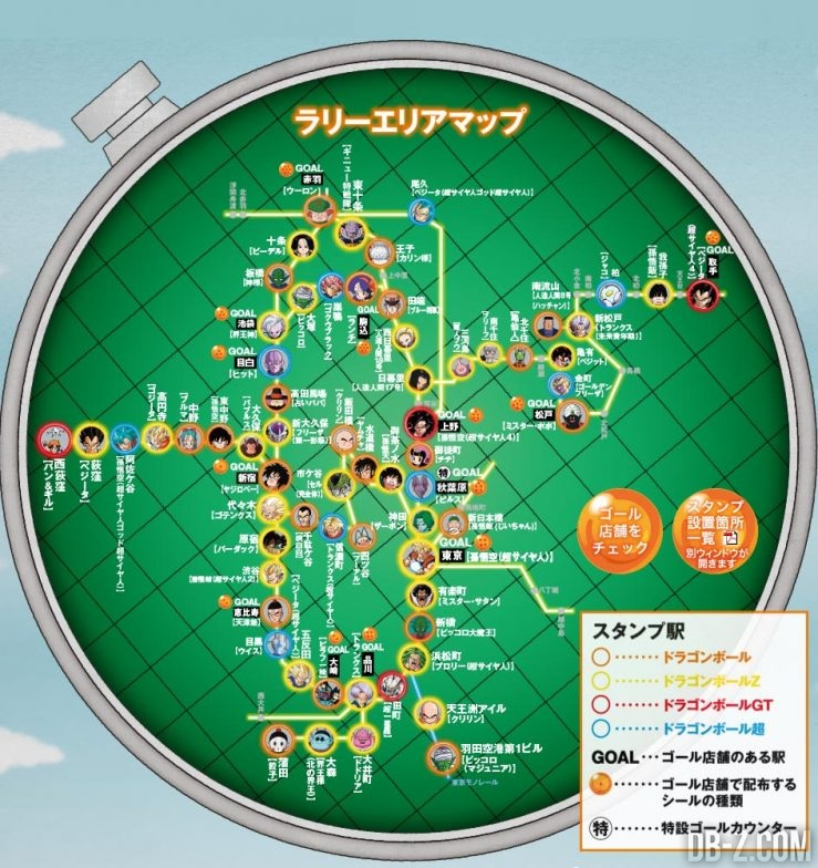 Radar de Tampons Dragon Ball