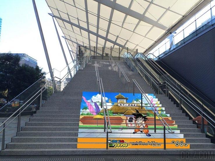 Street Art Dragon Ball à Tokyo