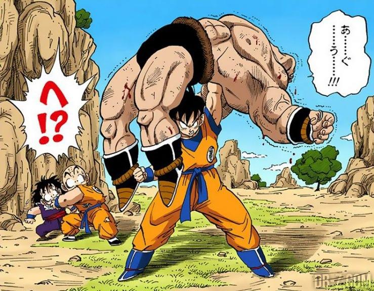 Goku vs Nappa après Kaioken
