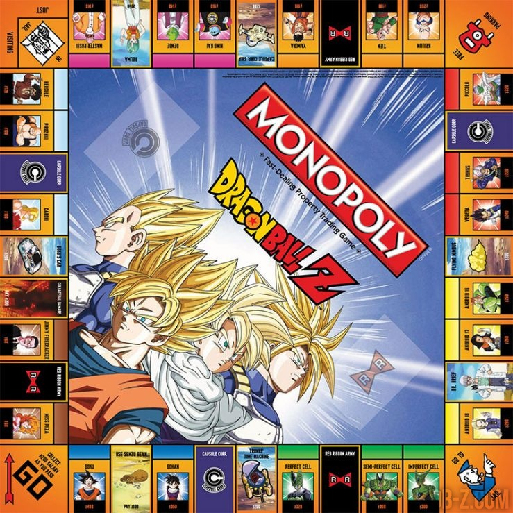 Monopoly Dragon Ball Z : Plateau