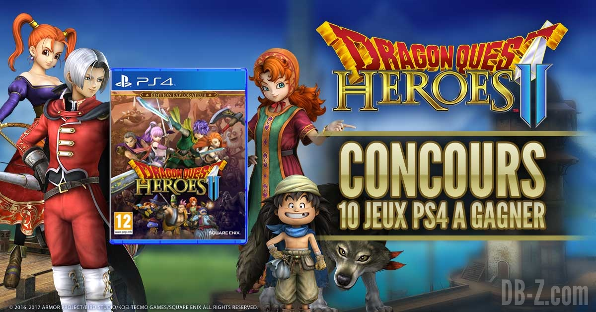 concours 10 jeux dragon quest heroes 2 ps4 gagner. Black Bedroom Furniture Sets. Home Design Ideas