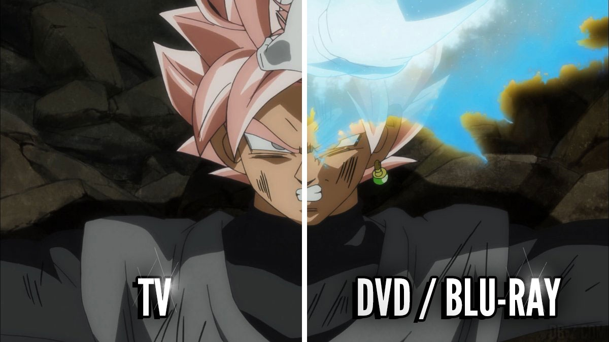 dragon ball super les corrections tv vs blu ray box 6. Black Bedroom Furniture Sets. Home Design Ideas