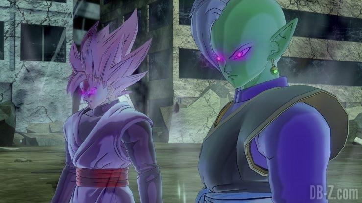 Dragon Ball Xenoverse 2 - Zamasu et Goku Black Rosé envoutés