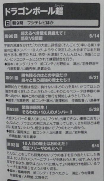 Dragon Ball Super : Titres des épisodes 90 91 92 93