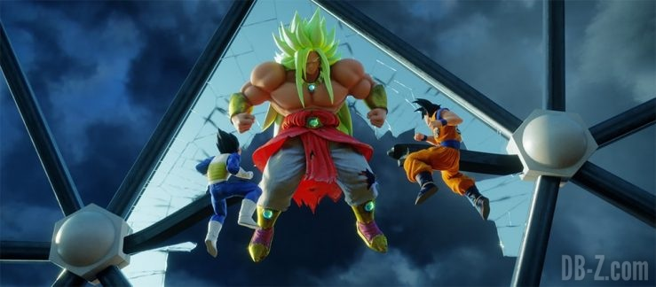 Broly God vs Goku et Vegeta (Dragon Ball The Real 4-D at Tenkaichi Budokai)