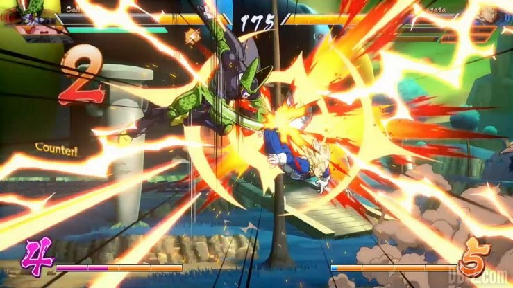 Dragon Ball FighterZ Cell vs Vegeta