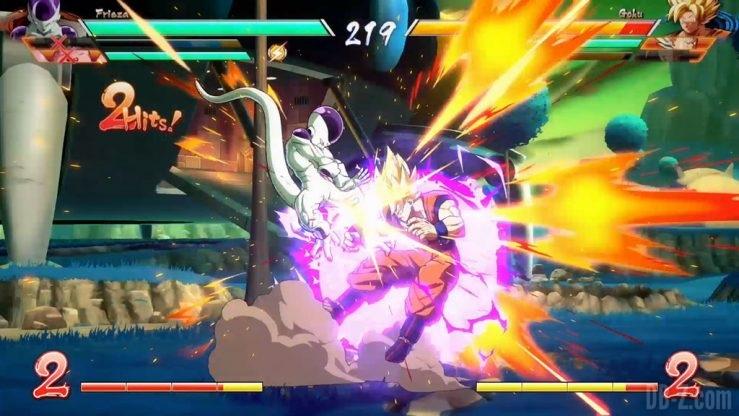 Dragon Ball FighterZ Goku vs Freezer