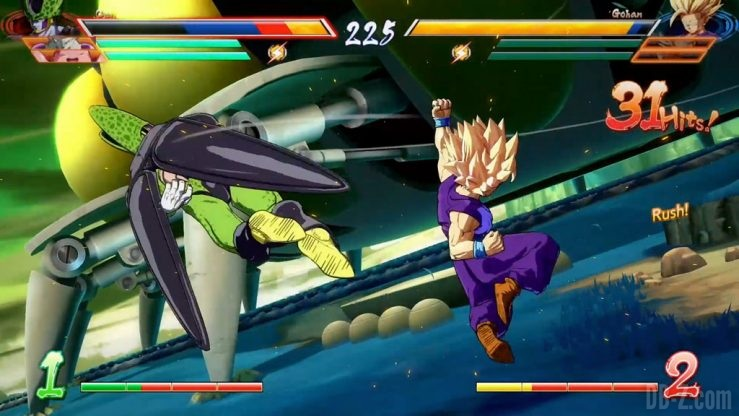 Dragon Ball FighterZ Cell vs Gohan