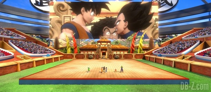 Goku, Vegeta, Mr Satan (Dragon Ball The Real 4-D at Tenkaichi Budokai)