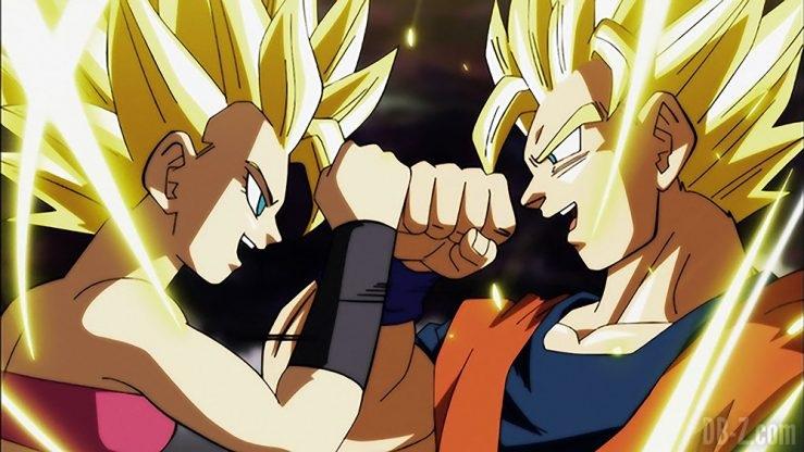 Goku vs Caulifla Super Saiyan 2
