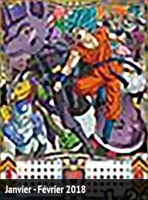 Calendrier Dragon Ball 2018 Janvier Fevrier