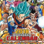 Calendrier Dragon Ball Super 2018 officiel